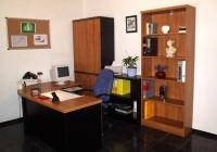 Santos elemekkel berendezett iroda, cseresznye és cseresznye-fekete színben