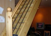 Lépcső borovi fenyőből