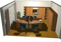 4 fős iroda látványterv