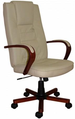 LGA 72 Wood bőr főnöki fotel